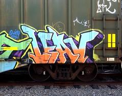LEAV (UTap0ut) Tags: california ca street art cali train graffiti mural paint tag style rail can spray letter graff aerosol freight leav tbv kamit