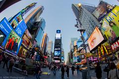 Times Square (Nicholas Mucha Photography) Tags: city nyc people ny newyork car fisheye timessquare club16