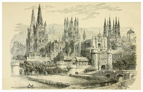 001-Puente entrada y catedral de Burgos-Spain-1881-Edmondo De Amicis-ilustrado por W. Vilhelmina Cady