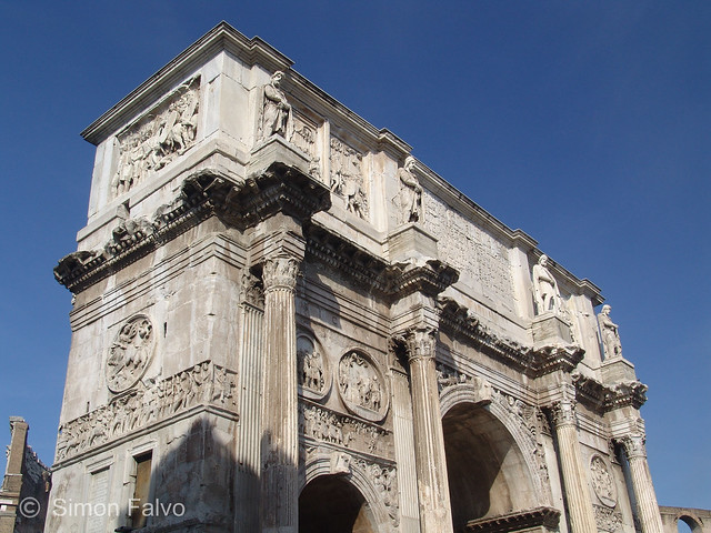 Rome,  Arch of Constantine