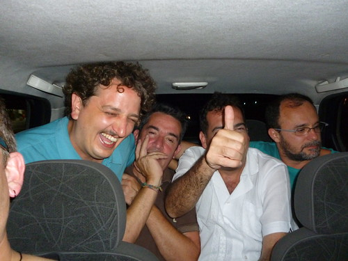 In a taxi