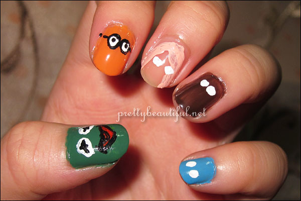 The Muppets Nail Art tutorial