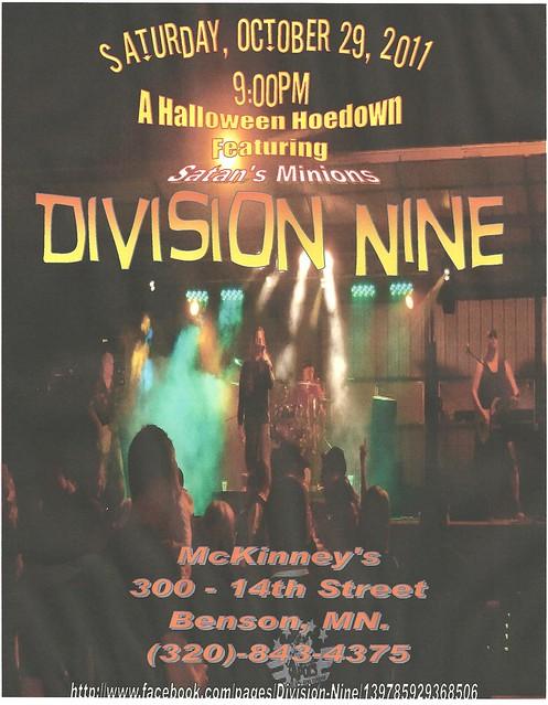 10-29-11 Division Nine @ McKinney's, Benson, MN (Version II)