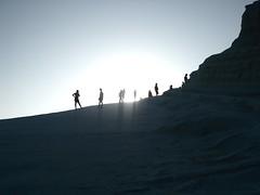 Scala dei Turchi (umbertocipri) Tags: light shadow sea sky people man nature silhouette rock landscape person kid rocks mediterranean child formation scala sicily landschaft dei sicilia agrigento sizilien turchi realmonte scaladeiturchi favara puntagrande