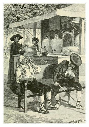 016-Quiosco de bebidas en Cordoba-Spanish vistas-1883- George Parsons Lathrop