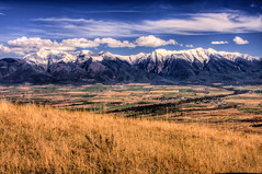 Mission Paradise (BigSkyKatie) Tags: autumn mountain snow mountains fall october montana farm farmland fresh snowcapped fields farms range nationalbisonrange stignatius nationalwildliferefuge missionvalley nwr bigskycountry 2011 missionmountains flatheadindianreservation patchworkquilt katielasallelowery redsleepmountain