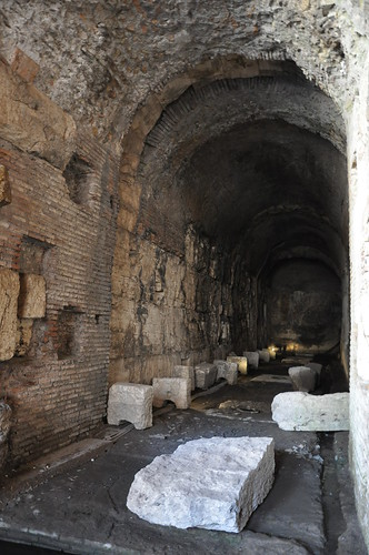 Underground storage at the Colosseum
