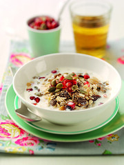 Mixed Spice Muesli with a Trio of Toppings (Shake Up Your Wake Up) Tags: breakfast spice cereal nuts seeds oats muesli