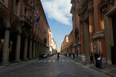 Via dell'Indipendenza (TheSpaceWalker) Tags: street blue sky people italy bus station clouds photography photo nikon italia pic bologna emiliaromagna viaindipendenza d3100 thespacewalker