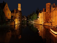 Magical nights of Bruges (2) (jackfre2) Tags: lighting houses light tree night reflections boats belgium towers belfry bruges flanders dijver verversdijk doubleniceshot mygearandme mygearandmepremium mygearandmebronze dblringexcellence tplringexcellence aboveandbeyondlevel1 flickrstruereflection1 flickrstruereflection2 flickrstruereflection3 flickrstruereflection4