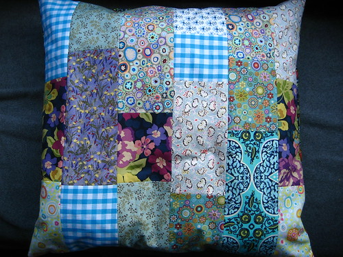 Purple & blue cushion