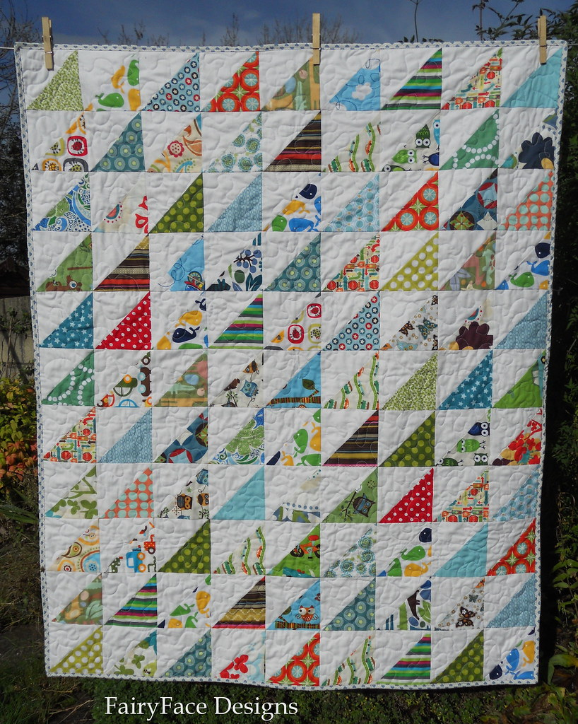 Frogs and Snails quilt front