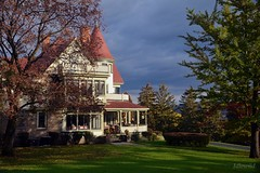 Victorian Mansion - Idlewild (blmiers2) Tags: blue autumn red white house newyork building green fall architecture other inn nikon october queenanne victorian mansion idlewild 2011 d3100 blm18 blmiers2