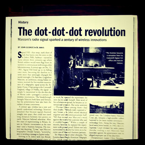 Where the blog title came from. An article I wrote for Maclean's almost a decade ago