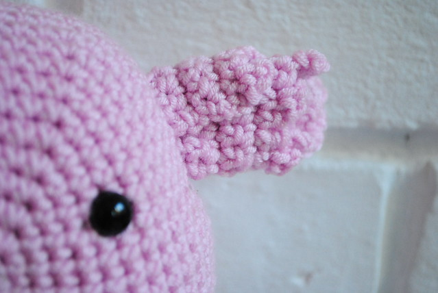 Crochet creature's ear