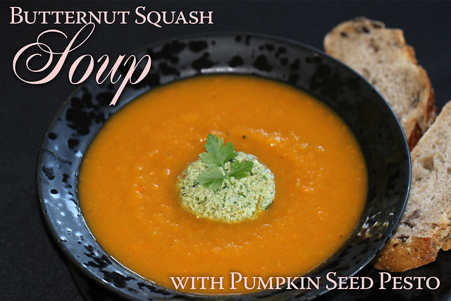 Butternut Squash Soup with Pumpkin Seed Pesto