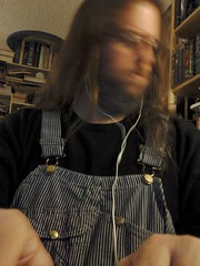 Writing: Blurry head (Jaquandor) Tags: writing key overalls hickorystripe