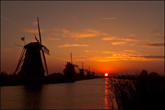 Sunrise at Kinderdijk, The Netherlands (sven483) Tags: thenetherlands mygearandme mygearandmepremium mygearandmebronze mygearandmesilver mygearandmegold flickrstruereflection1 flickrstruereflection2 flickrstruereflection3 sunriseatkinderdijk