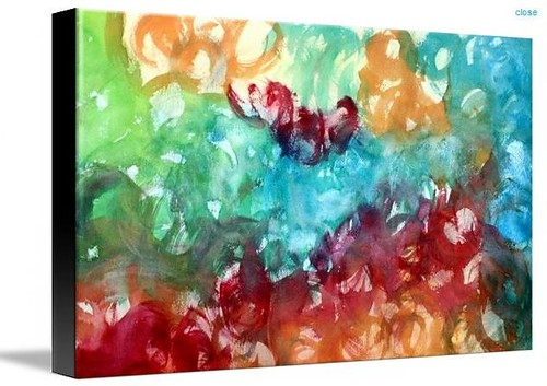 jewel tone abstract on canvas
