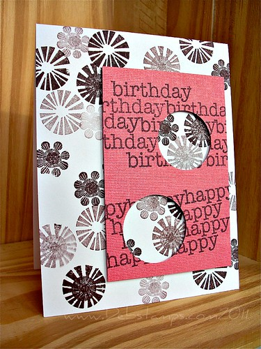 Pink Peekaboo Bday by debstamps