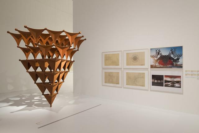 「メタボリズムの未来都市展:戦後日本・今甦る復興の夢とビジョン」展示風景
