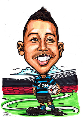 Man U fans caricature @ Old Trafford Stadium