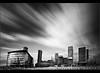 Media burst... (Digital Diary........) Tags: longexposure bw clouds manchester movement weldingglass mediacity