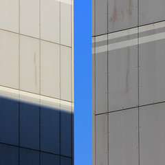 Blue sky (tanakawho) Tags: blue shadow sky urban abstract building geometric vertical line diagonal squareformat tanakawho