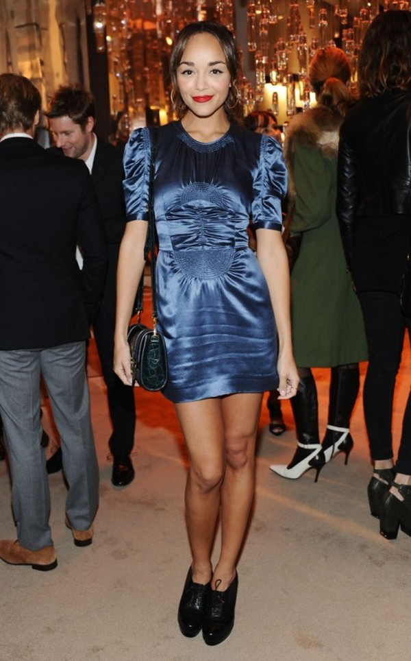 9e Ashley Madekwe in Burberry at the Burberry Body event in LA