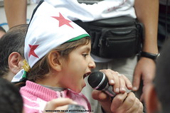 Syrian Girl shanting against Bashar (Mohamed Imad Photography) Tags: freedom embassy cairo revolution syria         29102011 safwathegazy