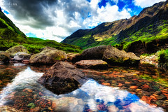 Scottish Highlands (Kevin Clark Photography) Tags: uk trip travel blue red summer vacation sky mountains reflection green art nature water june clouds river photography scotland grampianmountains nikon europe aberdeenshire natural unitedkingdom angus stirling lowlands pebbles hike industrialrevolution hills western gia highlandclearances isle moray rainclouds scottishhighlands argyllandbute perthandkinross adobelightroom jaup highlandboundaryfault nikond700 aghidhealtachd theplaceofthegaels jacobiterisingof1745 sspck chainmigration