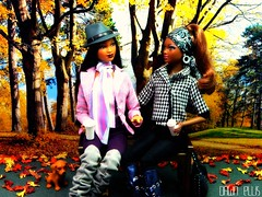 Sunday in Autumn (Dawn Ellis) Tags: autumn barbie blackdolls aabarbie dolldiorama blackbarbies soinstyledolls trichellebarbie karabarbie