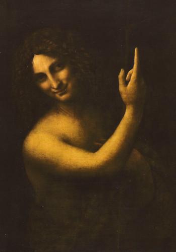 Leonardo da Vinci - Saint Jean Baptiste, 1516 at the Louvre Museum Paris France