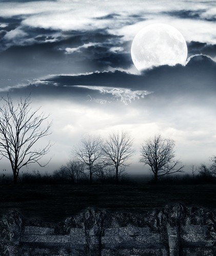無料写真素材, グラフィック, フォトレタッチ, 空, 雲, 月, 夜空
