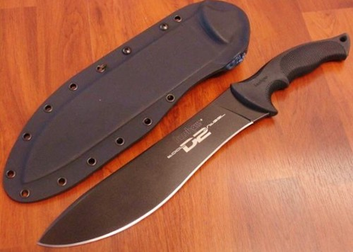 "Kershaw Outcast Ken Onion Designed Fixed Blade Knife 10"" D2 Blade"