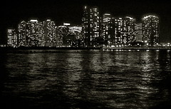 View from Hoboken (robertvena) Tags: blackandwhite night newjersey jerseycity cityscape nj newport