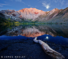 Moonset at Convict Lake (James Neeley) Tags: moon landscape bravo moonset convictlake californina lowlightphotography jamesneeley
