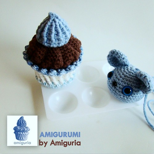 Amigurumi Cupcake and Animal by Amiguria by Amiguria