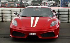 Ferrari 430 Scuderia (Felix R.   Photography) Tags: italien red italy rot beauty germany deutschland awesome grand 360 ferrari prix oldtimer panning scuderia supercar f430 darkred sportcar 2011 novitec hanseat