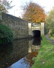 High Street Bridge, Uppermill (jrw080578) Tags: autumn trees reflections canal tunnel saddleworth huddersfieldnarrowcanal