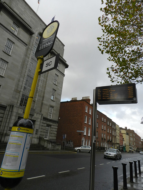 Bus stop in Dublin