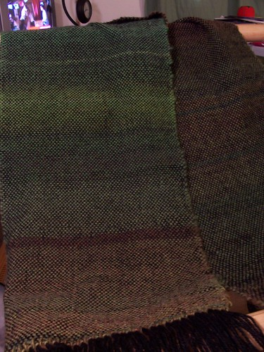 First weaving - finished! by fiberbrarian