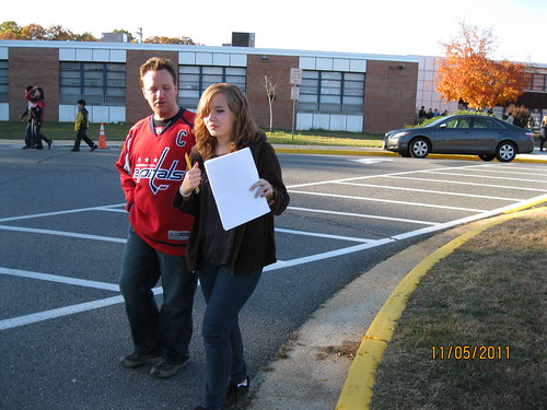 11/5/11: Leaving TJHS after a long day of math.