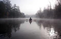 Peshtigo River Morning Fog (Emery O) Tags: fall kayaking twinbridge highfallsflowage