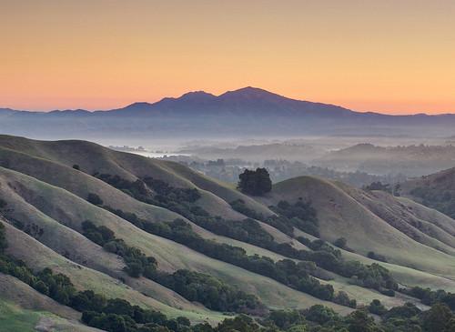 無料写真素材, 自然風景, 山, 霧・霞, 朝焼け・夕焼け, 風景  アメリカ合衆国