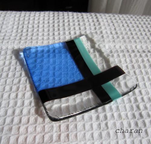 豆皿 ブルーとクロス by Poran111