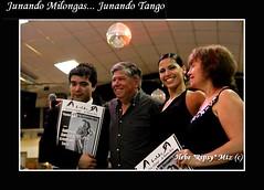 Cristhian Sosa y Sabrina Garcia junto a Horacio y Alba (Organizadores de La Baldosa)