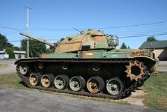 M60 Tank: Elsie, MI (RickM2007) Tags: gun tank military camo armor ammo armour camoflauge veterans vfwhall battletank m60tank ustank militarytank armourtank