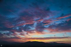 Mountain Dawn (konrad_photography) Tags: blue sun mountains color sunrise dawn virginia airport ridge roanoke va rise