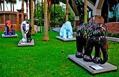 Elephant Parade (rodelmdelapena) Tags: elephant statue singapore parade figurines esplanade 2011